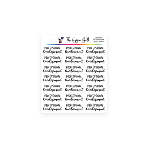 Professional Development Script Stickers