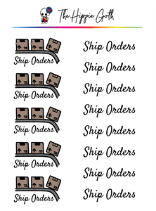 Ship Orders Stickers