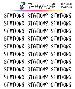 Stations Script Stickers