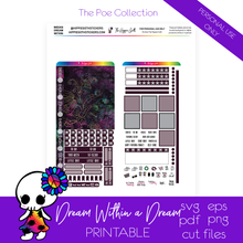 Load image into Gallery viewer, Dream Within a Dream Hobonichi Weeks Printable
