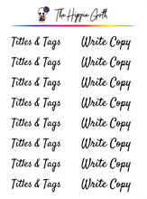 Load image into Gallery viewer, Titles, Tags and Write Copy Stickers