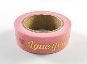 I Love You Gold Foil Washi