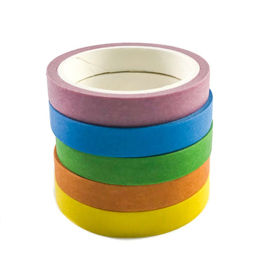 Rainbow Skinny Washi Set of 5