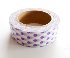 Purple Polka Dot Washi