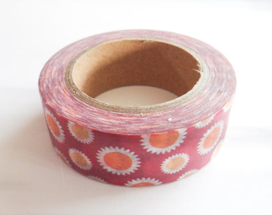 Dark Pink Flower Washi