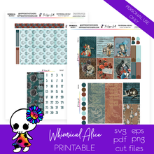 Load image into Gallery viewer, Whimsical Alice Weekly Kit Printable