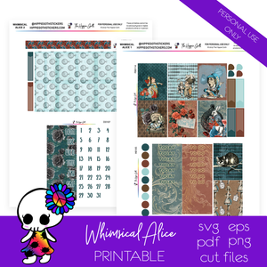 Whimsical Alice Weekly Kit Printable