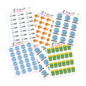 Fish Care Decorative Stickers Bundle