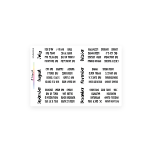 Holiday Script Stickers