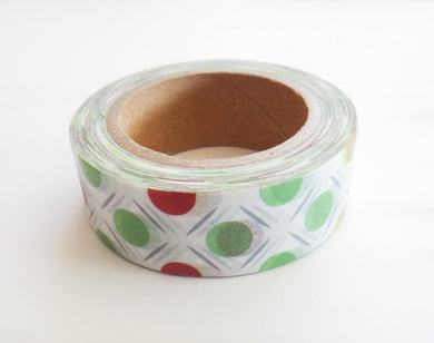 Red and Green Dot Washi