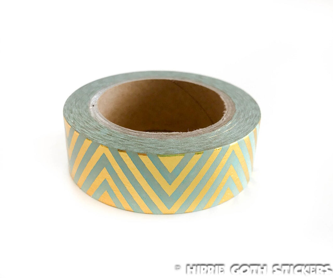 Gold Stripe Foil Washi