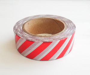 Red Foil Striped Washi