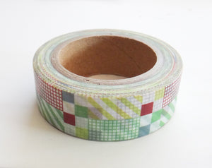 Multi Color Squares Washi