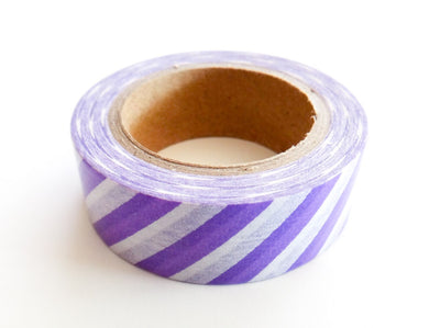 Purple Striped Washi