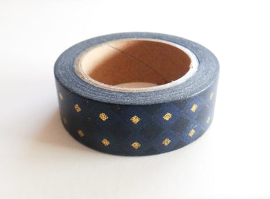 Navy and Gold Foil Washi