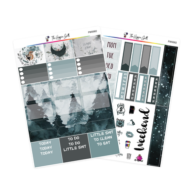 Watercolor Winter PP Weeks/B6TN Mini Kit