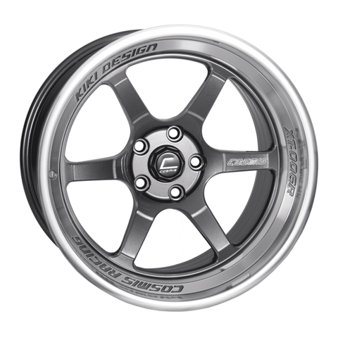 Cosmis XT-006R Gun Metal w/ Machined Lip Wheel 18x11 +8mm 5x114.3