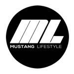 Mustang Lifestyle Circle Sticker White