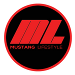 Mustang Lifestyle Circle Sticker Red