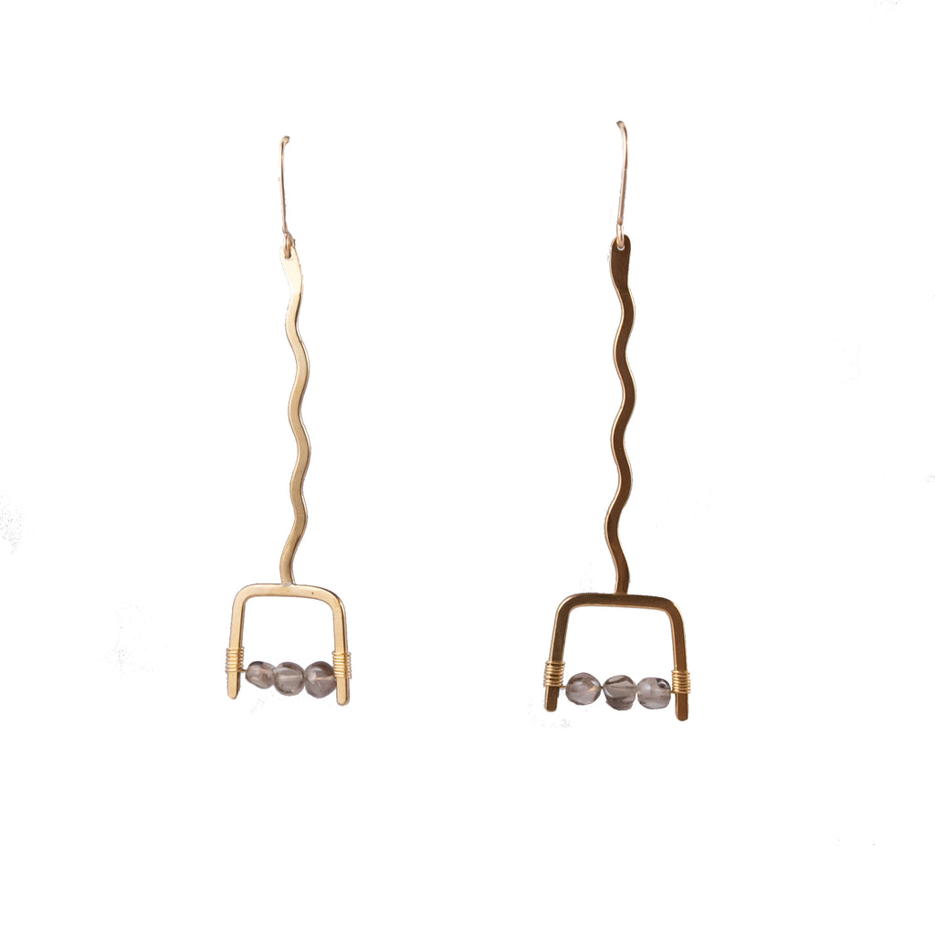 Brass Satchel Hoops - Rise & Rivet