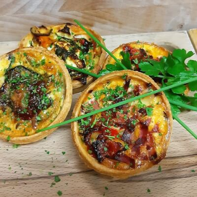 Goats Cheese & Roast Vegetable Mini Quiche (x2)