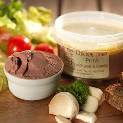 On The Pig's Back Homemade Chicken Liver Pate with Garlic and Brandy