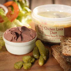 Chicken Liver Paté with Smoked Bacon and Port
