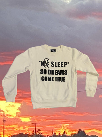 No Sleep Crewneck (White)