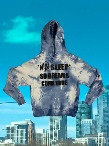 No Sleep Tie-Dye Hoodie (Size Medium)