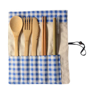Complete Portable Bamboo Utinsel Set