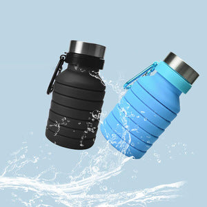 Iko© Collapsible Water Bottle 550ml BPA FREE FOOD GRADE with Carry Clip