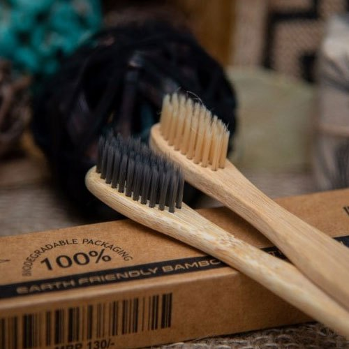 Bamboo Toothbrush 10 PACK! Organic Bamboo 100% natural