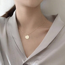 Load image into Gallery viewer, Punk Silver Gold Color Coin Necklace Dainty Disc Pendant Necklace Minimalist Gold Coin Layering Necklace Everyday Jewelry