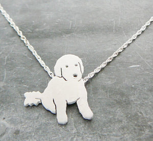 Your Poodle Necklace Pet Pendant Dog Necklace Silver Animal Necklace Girl Gift Jewlery--12pcs/Lot