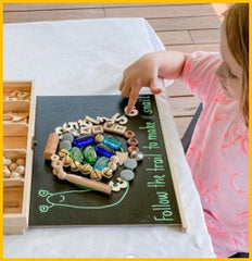 snail craft activity using nesk kids tinker play box