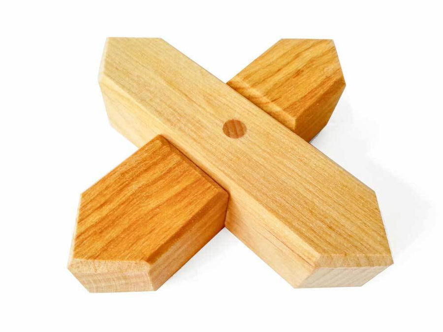 Bauspiel X-Shapes Natural (48 pieces) Bauspiel