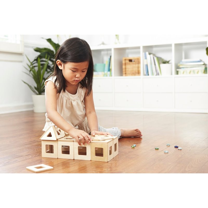 Big Future Toys Wooden Magnetic Tiles Big Future Toys