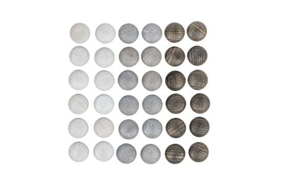 Grapat Mandala Grey Stones (36 Pieces) Grapat