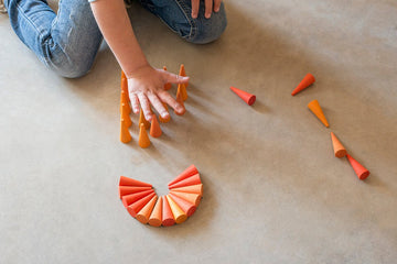 Grapat Mandala Orange Cones (36 Pieces) Grapat