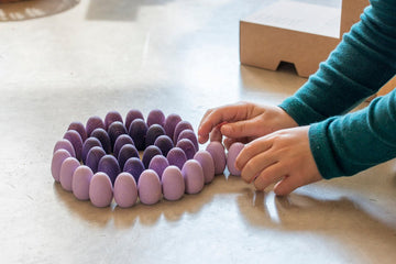 Grapat Mandala Purple Eggs (36 Pieces) Grapat