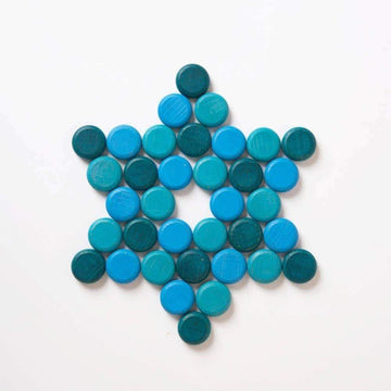Grapat Mandala Small Blue Coins (36 Pieces)_nesk-kids-store.