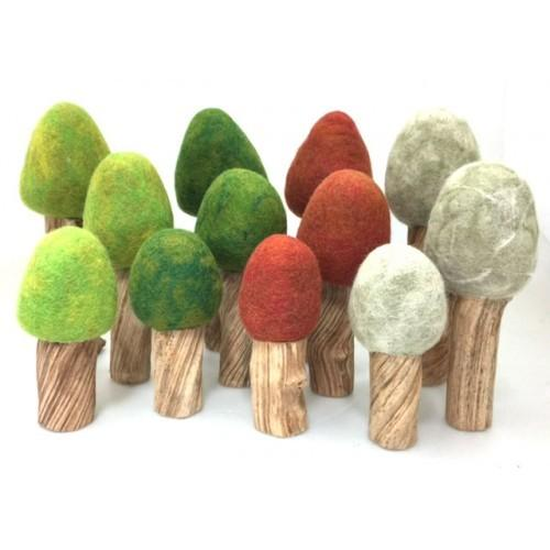 Papoose Summer Trees (Set of 3) Papoose Toys