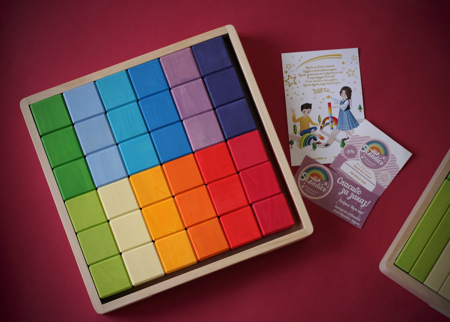 Skandico Toys 36 Block Set (Rainbow Colours) Skandico Toys