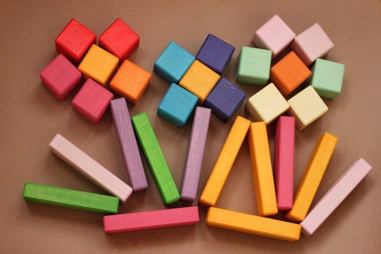 Skandico Toys Blocks and Bricks Set (Pastel) Skandico Toys