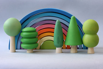 Skandico Toys Green Forest Tree Set (7 Pieces) Skandico Toys