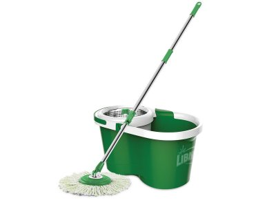 Other than walls, the largest surface area in your home that needs to be cleaned regularly is the floor, and that means mopping.  Libman Spin Mop and Bucket gives you shiny clean floors in kitchens, bathrooms, and mudrooms, and can help keep wood...