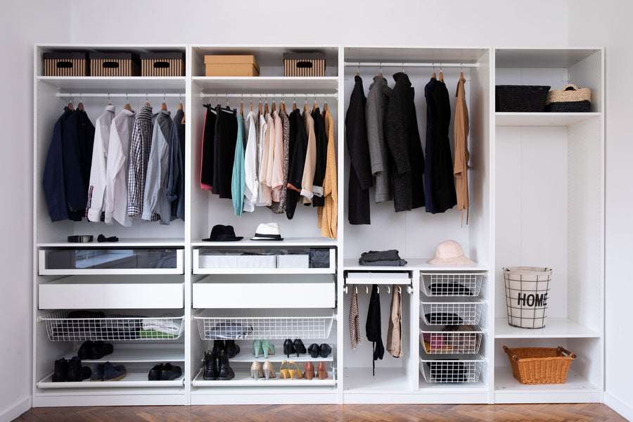 Your closet is the bedroom's main storage space