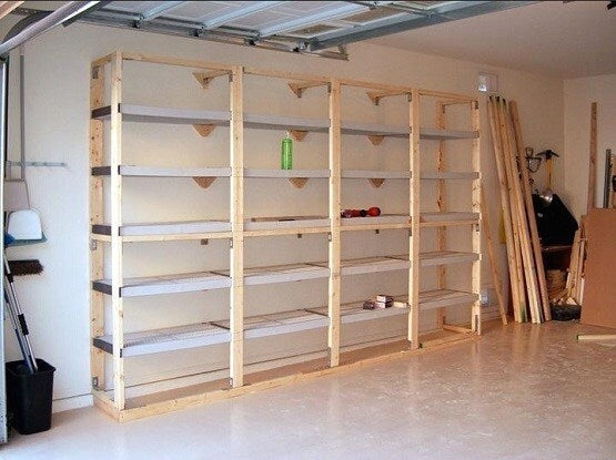 Sympathetic Easy Garage Shelves
