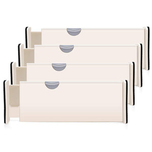 Kitchen 4 pack adjustable drawer dividers organizer separators good grips dresser organizer for bedroom bathroom closet baby drawer desk kitchen storage