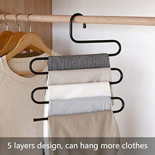 Load image into Gallery viewer, On amazon ds pants hanger multi layer s style jeans trouser hanger closet organize storage stainless steel rack space saver for tie scarf shock jeans towel clothes 4 pack